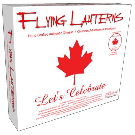 Canada Maple Leaf Flying Lantern