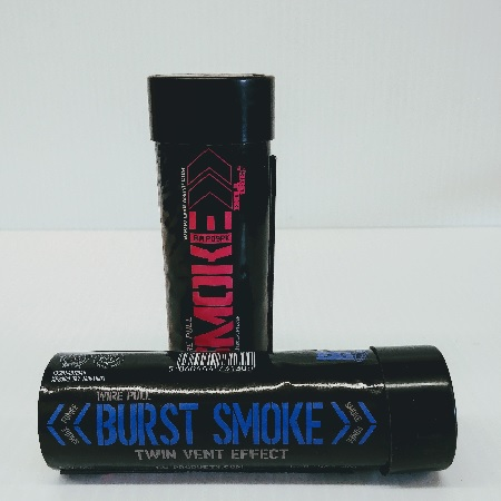 Blue or Pink Burst Pull Smoke Grenade (double ended)