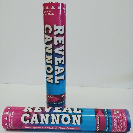 Pink or Blue Confetti Cannon