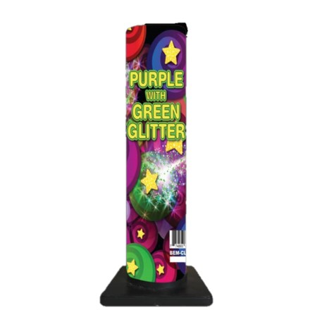 Purple with Green Glitter